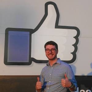 Grad Tech President David LoVerme at Facebook's Menlo Park headquarters on Grad TechTrek West 2014