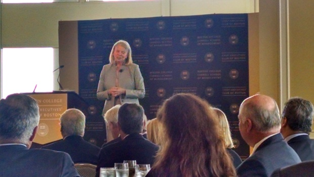 IBM CEO Ginni Rometty addressing the crowd.